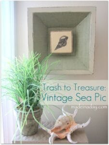 burlap sea shell pics made in a day