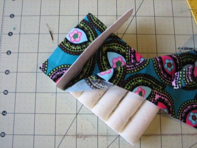 glue and tuck fabric