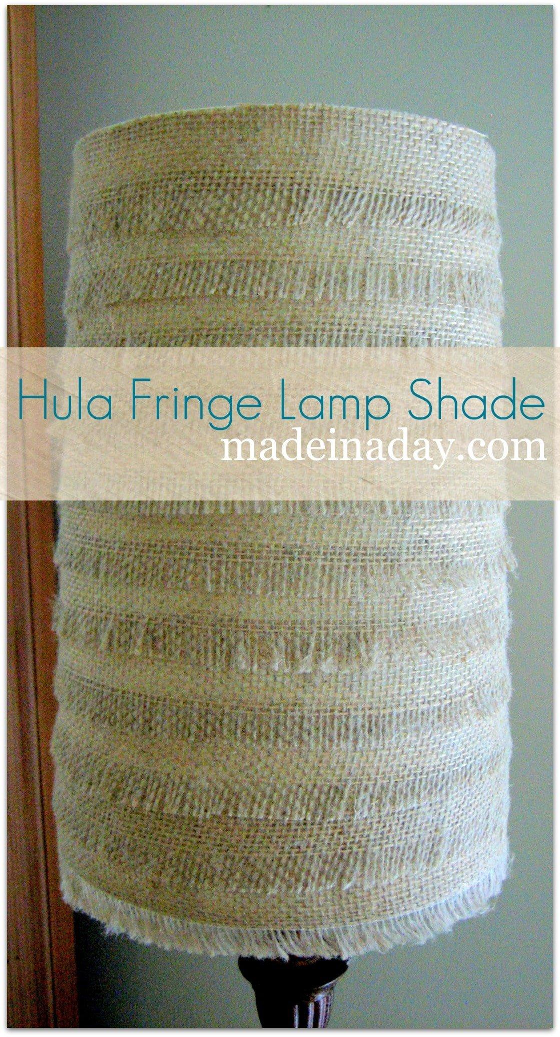 Hula fringe burlap lamp shade burlap lamp shade hula fringe aloadofball Image collections