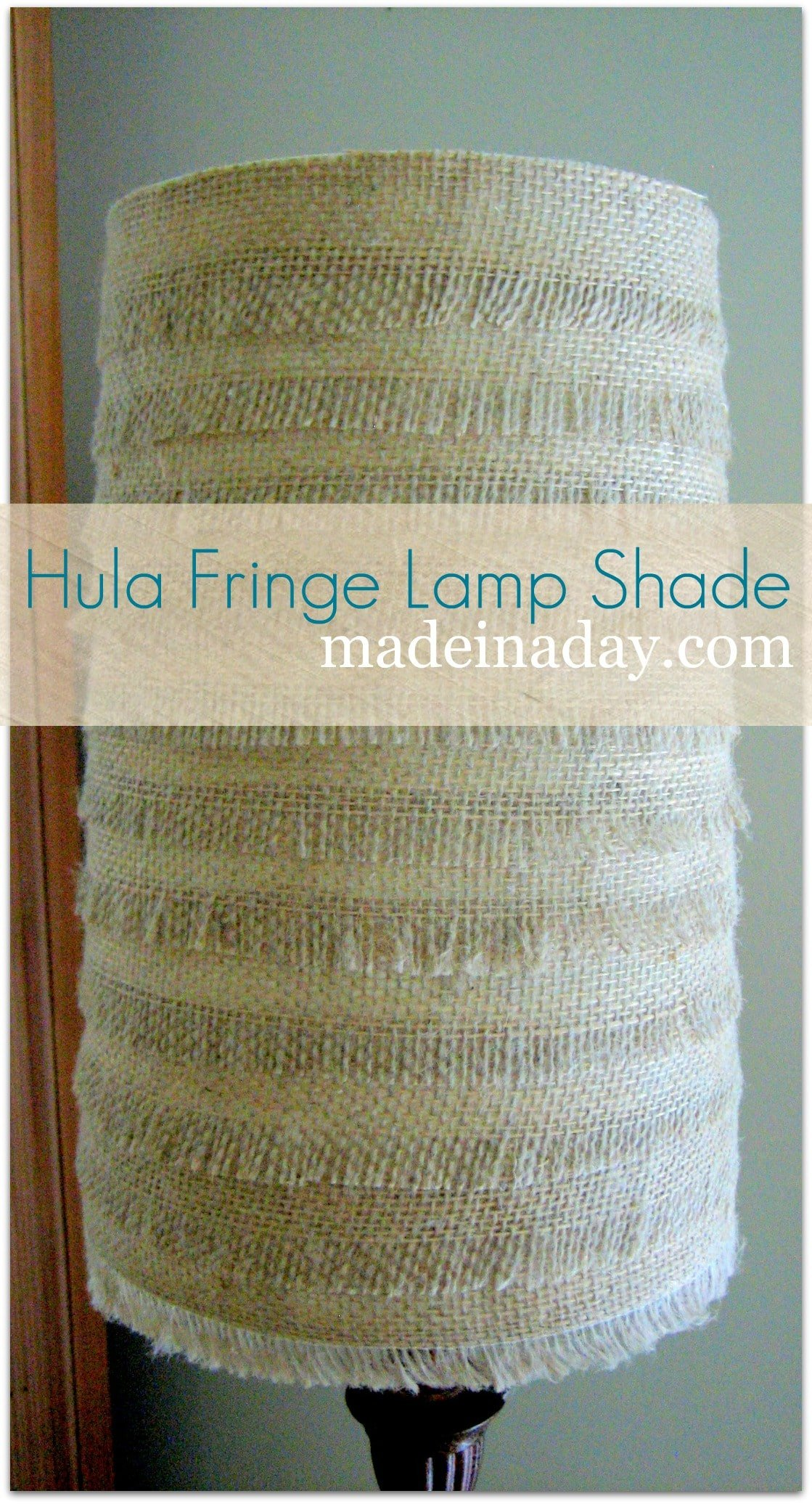 Burlap Lamp Shade Hula Fringe