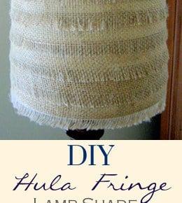 Hula Fringe Flower Burlap Lamp shade 1