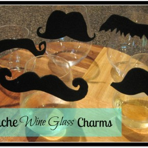 Mustache Wine Glass Charms DIY