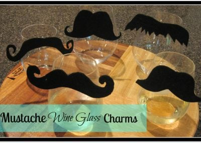 Mustache Wine Glass Charms 10