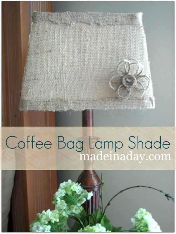 coffee bag lamp shade tutorial