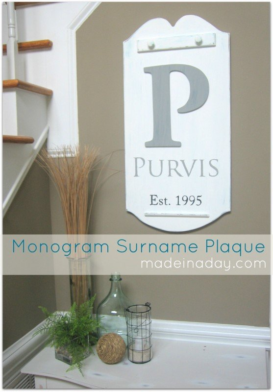 How to stencil with paper surname plaque