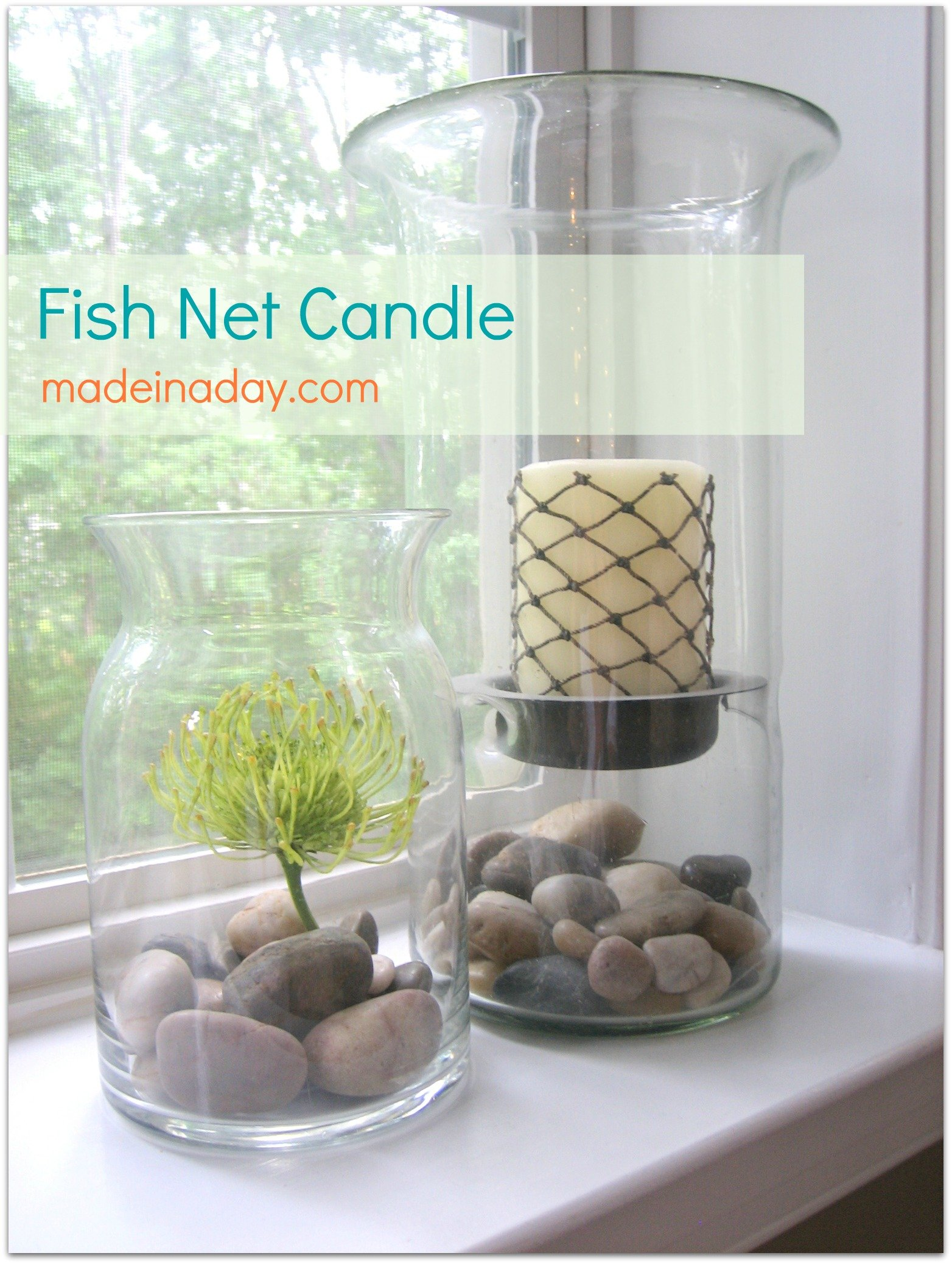 fish net candle