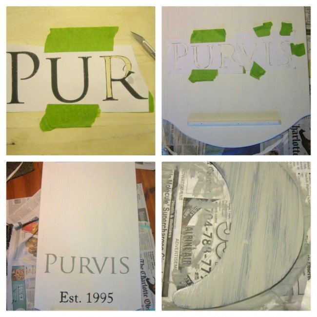 stencil with printer and paper