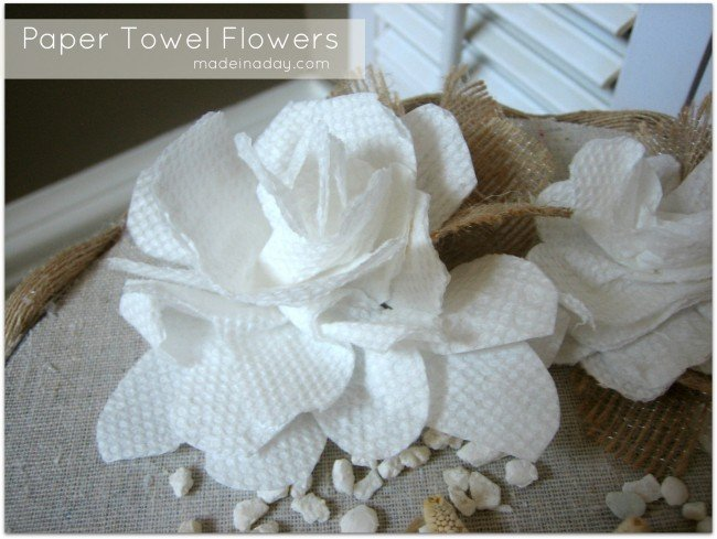 paper towel flower