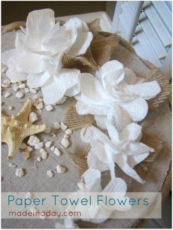 paper towel flower faux cake