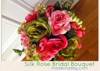 Bridal Rose Silk Bouquet 20