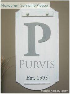 surname plaque