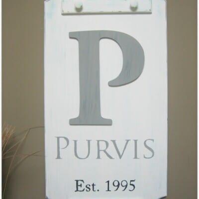Monogram Surname Plaque