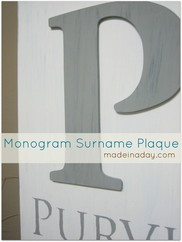 Surname Plaque with stencil