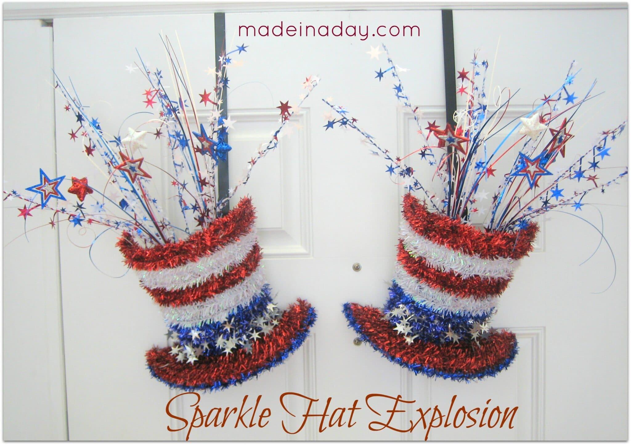 Diy sparkle hat patriotic decoration for Decoration 4 july