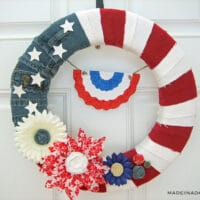 Patriotic American Denim Flag Wreath