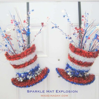 Sparkle Hat Explosion Patriotic Decoration