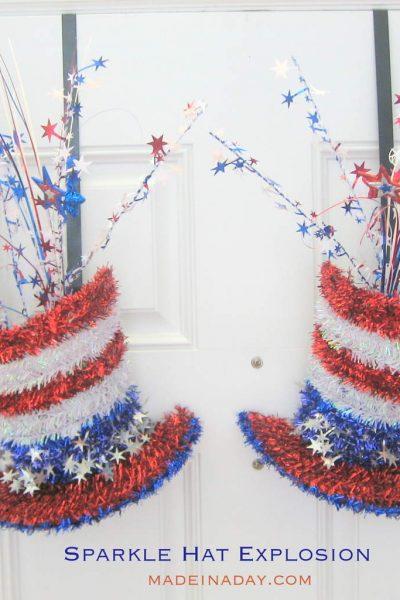 Sparkle Hat Explosion Patriotic Decoration
