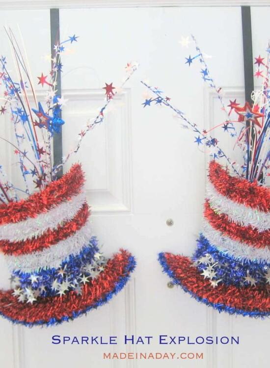 Sparkle Hat Explosion Patriotic Decoration 38