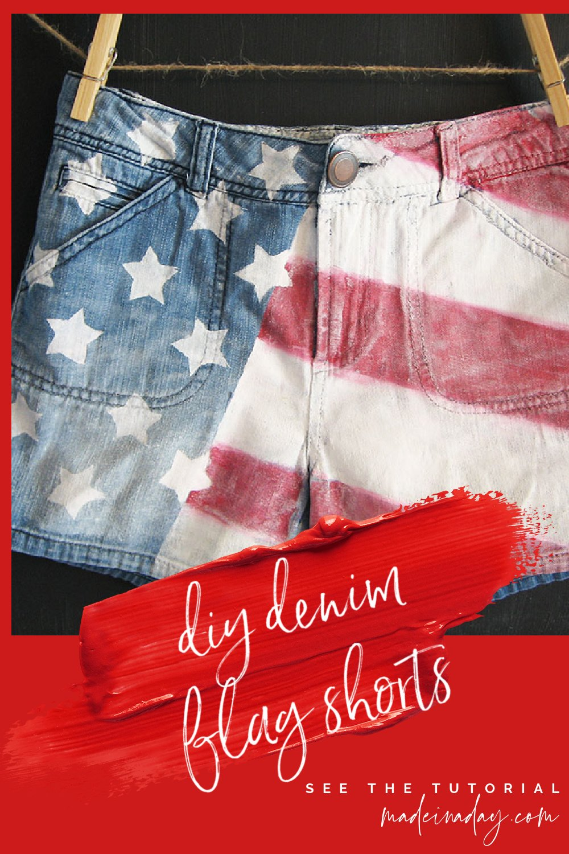 Patriotic DIY American Flag Shorts