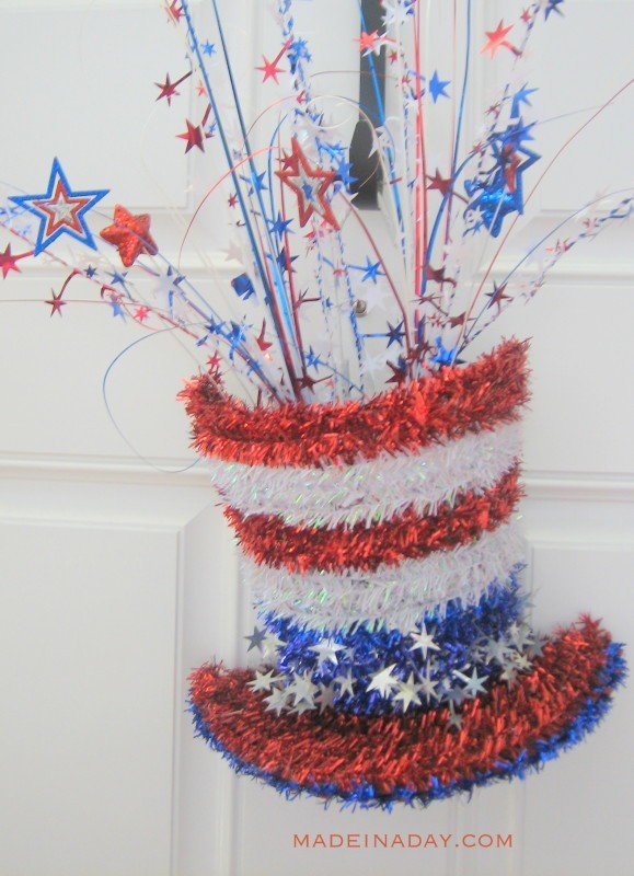 Patriotic Sparkler Hats madeinaday.com
