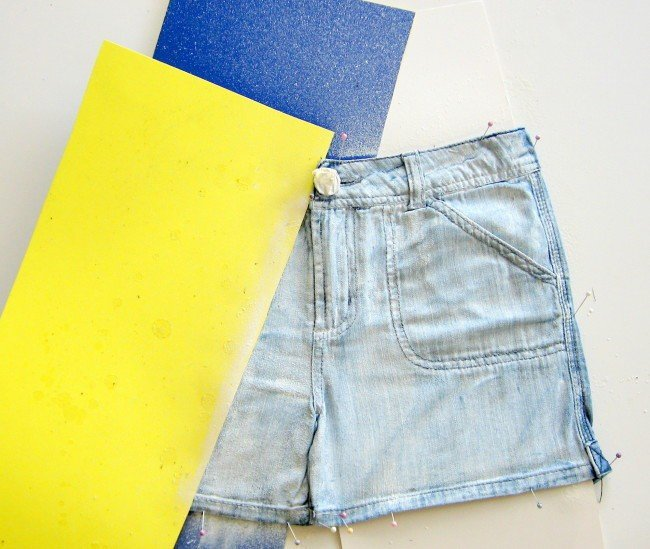 painting denim