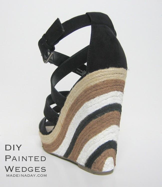 DIY Painted Wedge Heels madeinaday.com
