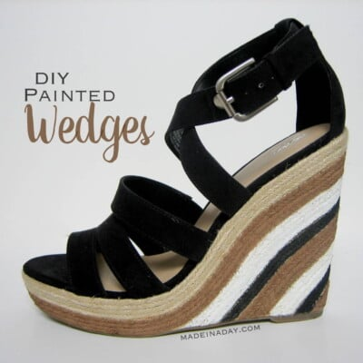 Painted Wedge Sandals!