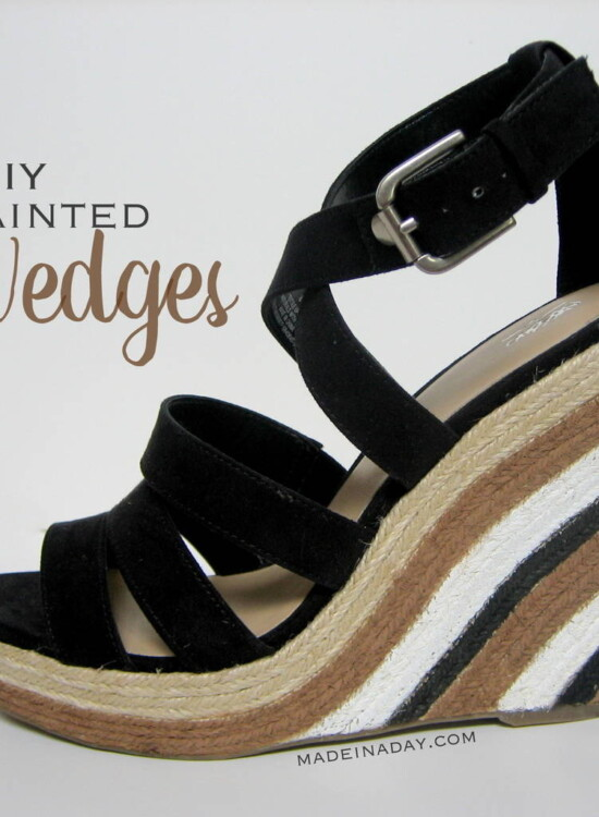 Painted Wedge Sandals! 6