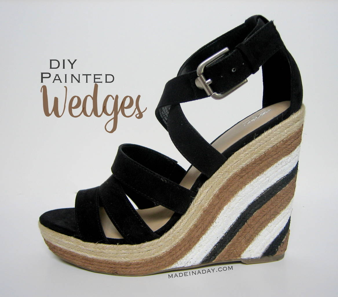 Painted Wedge Sandals! 7