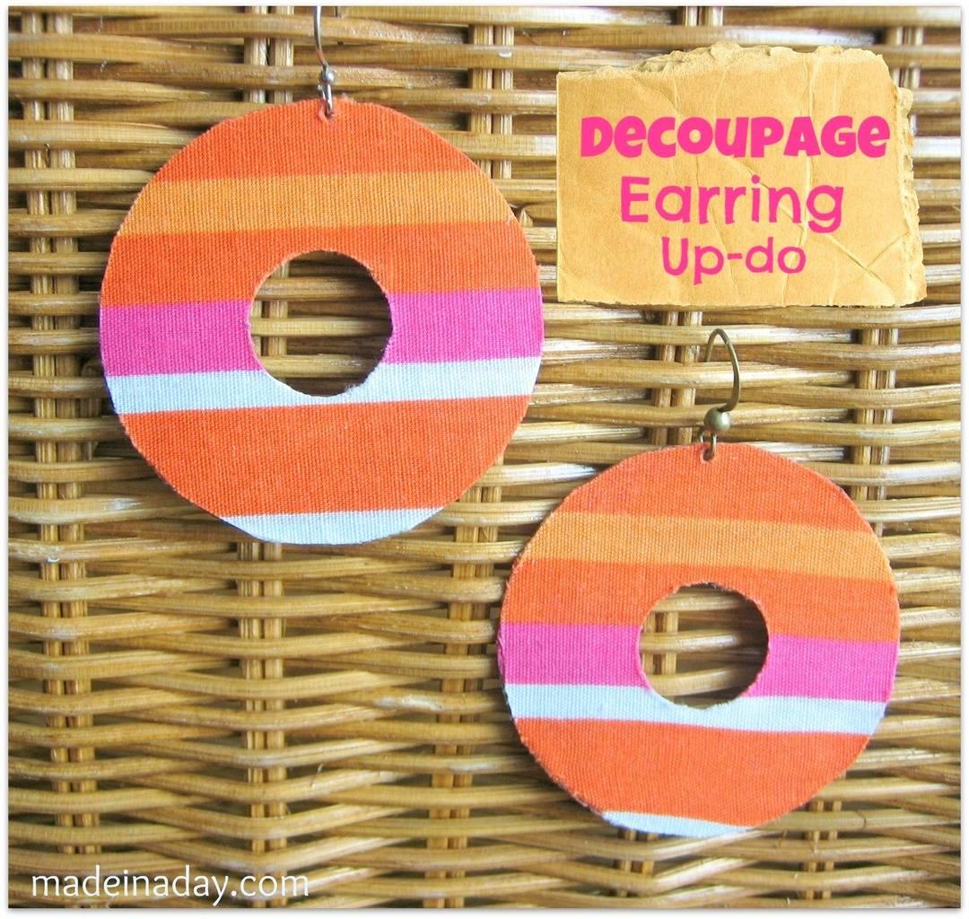 Decoupage Earring Updo 6
