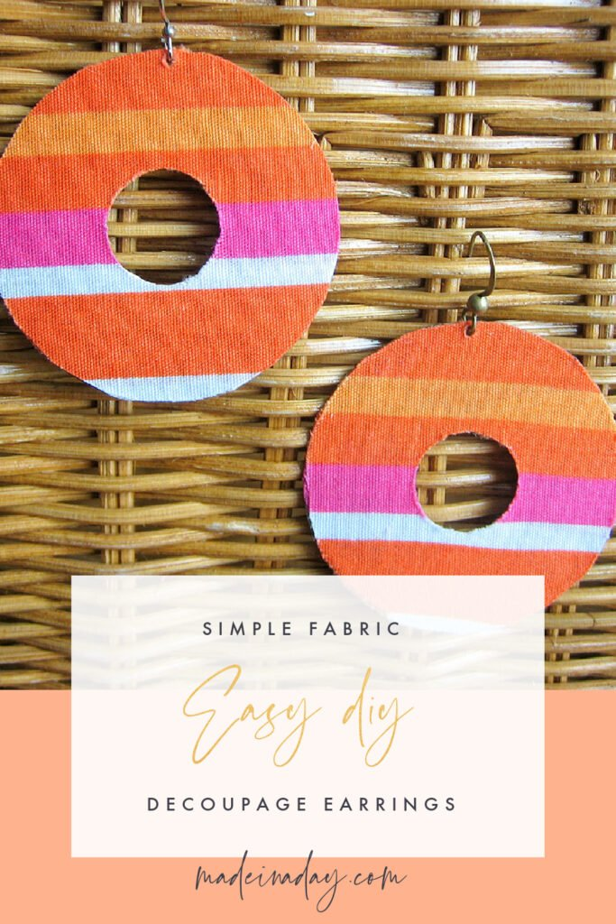 Fabric Decoupage Earrings