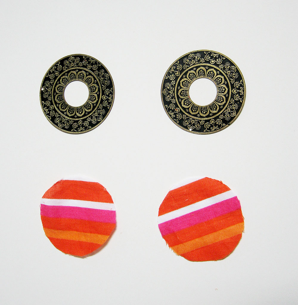 cover earrings with fabric