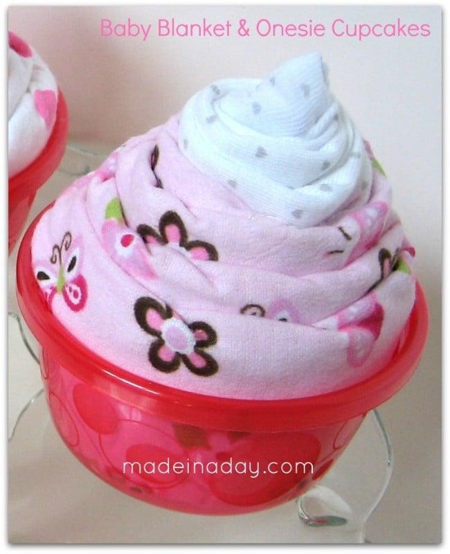 Blanket & Onesie Cupcake