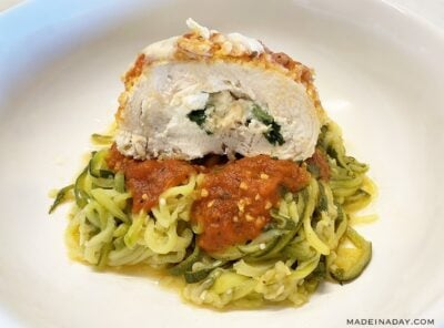 Chicken Spinach Rollatini Recipe with Zoodles!