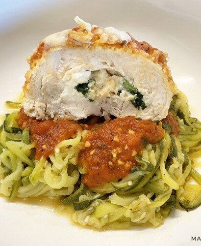 Chicken Spinach Rollatini Recipe with Zoodles! 32