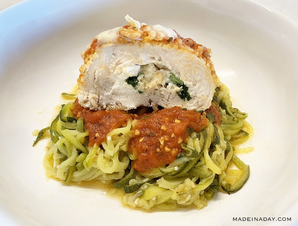Chicken Spinach Rollatini Recipe with Zoodles! 30