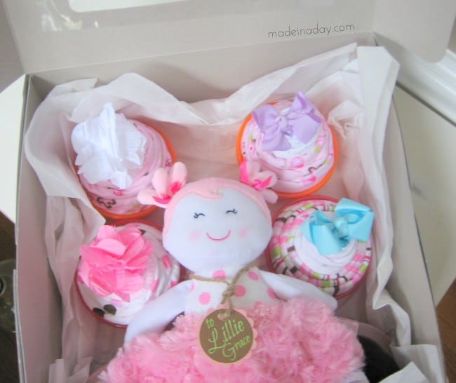Cupcake Onesie in a cake box