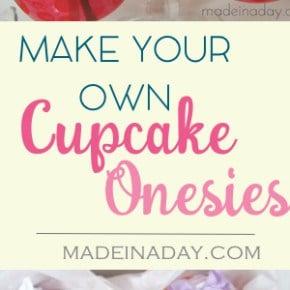 Baby Blanket & Onesie Cupcakes! 1