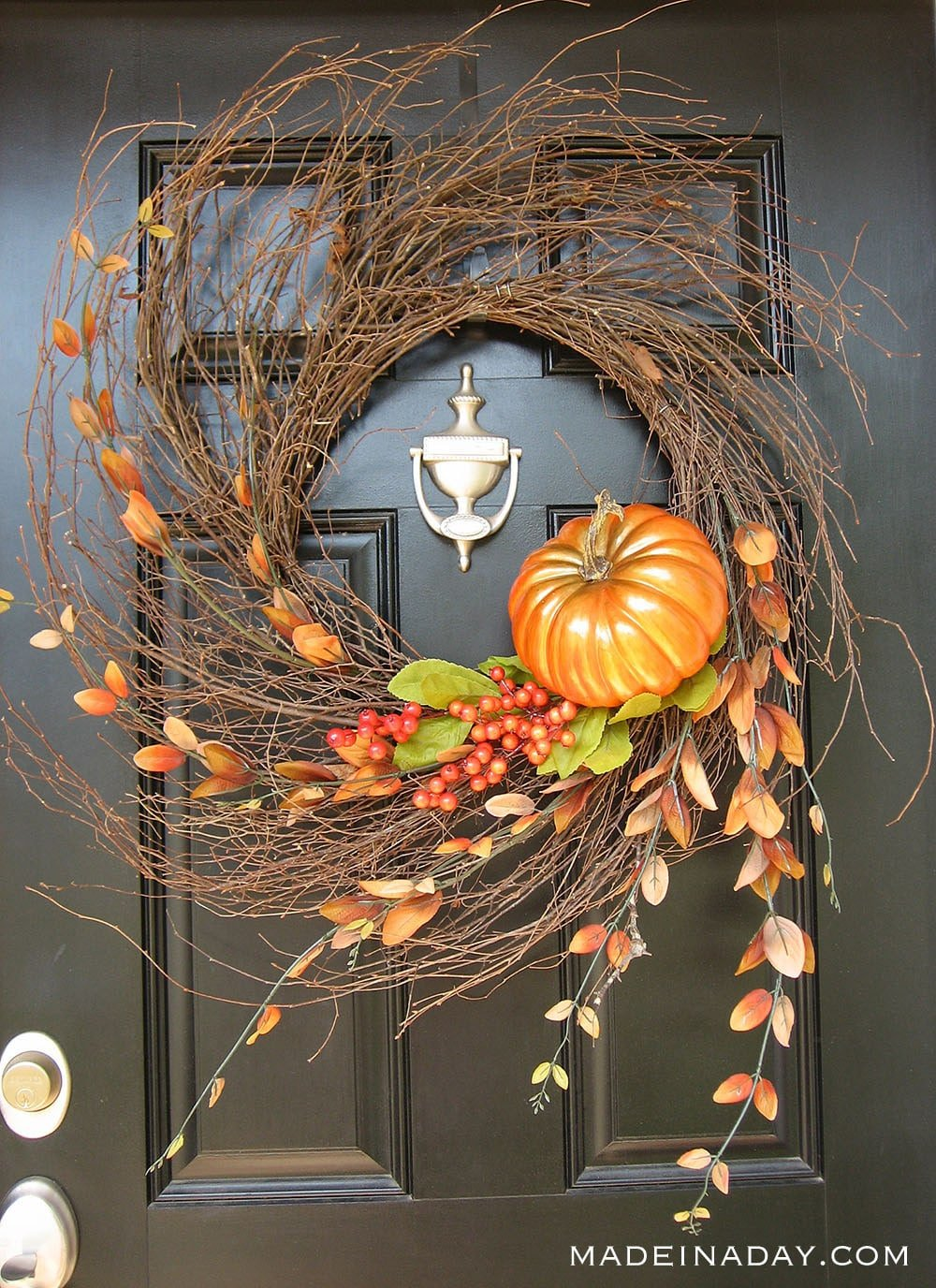 Autumn Fall Wispy Wreath, pumpkin harvest wispy wreath, orange wispy wreath, simple fall wreath