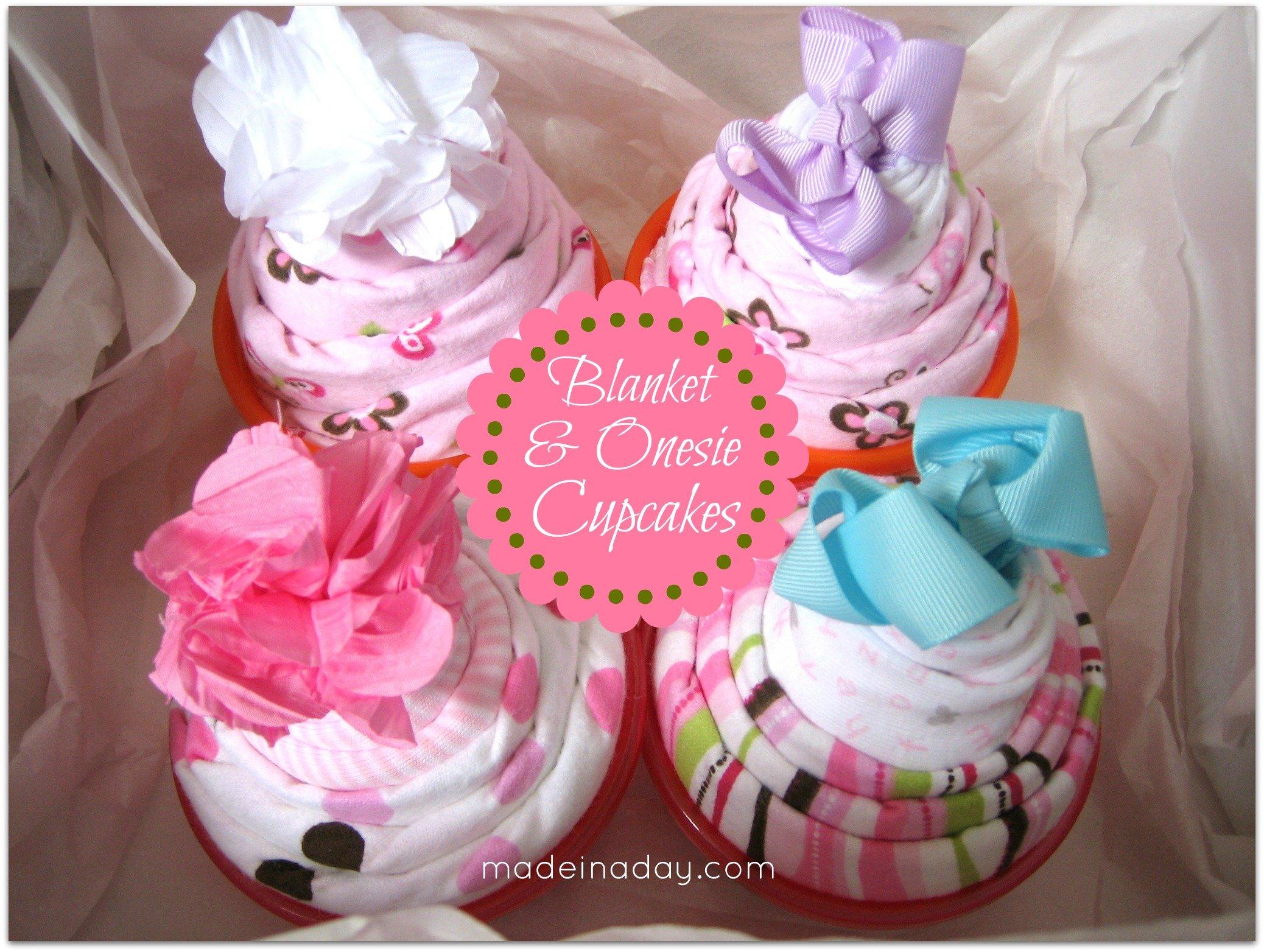 Baby Blanket & Onesie Cupcakes!