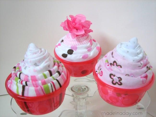Onesie Cupcake Tutorial madeinaday.com