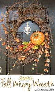 Harvest Pumpkin Autumn Wispy Wreath 1
