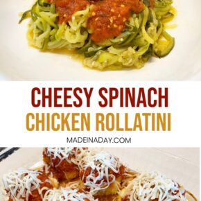 Chicken Spinach Rollatini Recipe with Zoodles! 29