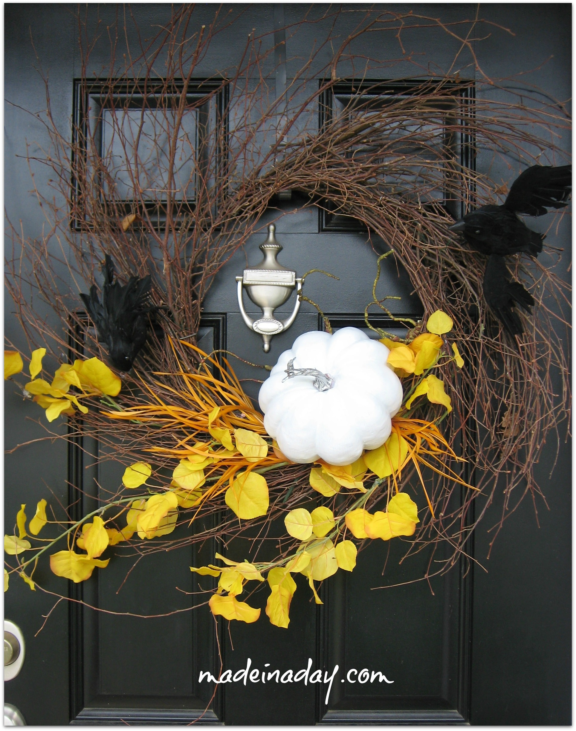 Halloween Wreath~ Made in a Day