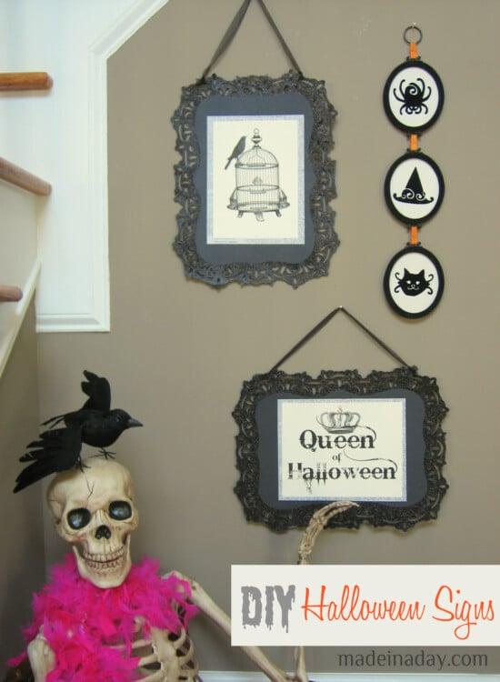 DIY Halloween Signs! 2