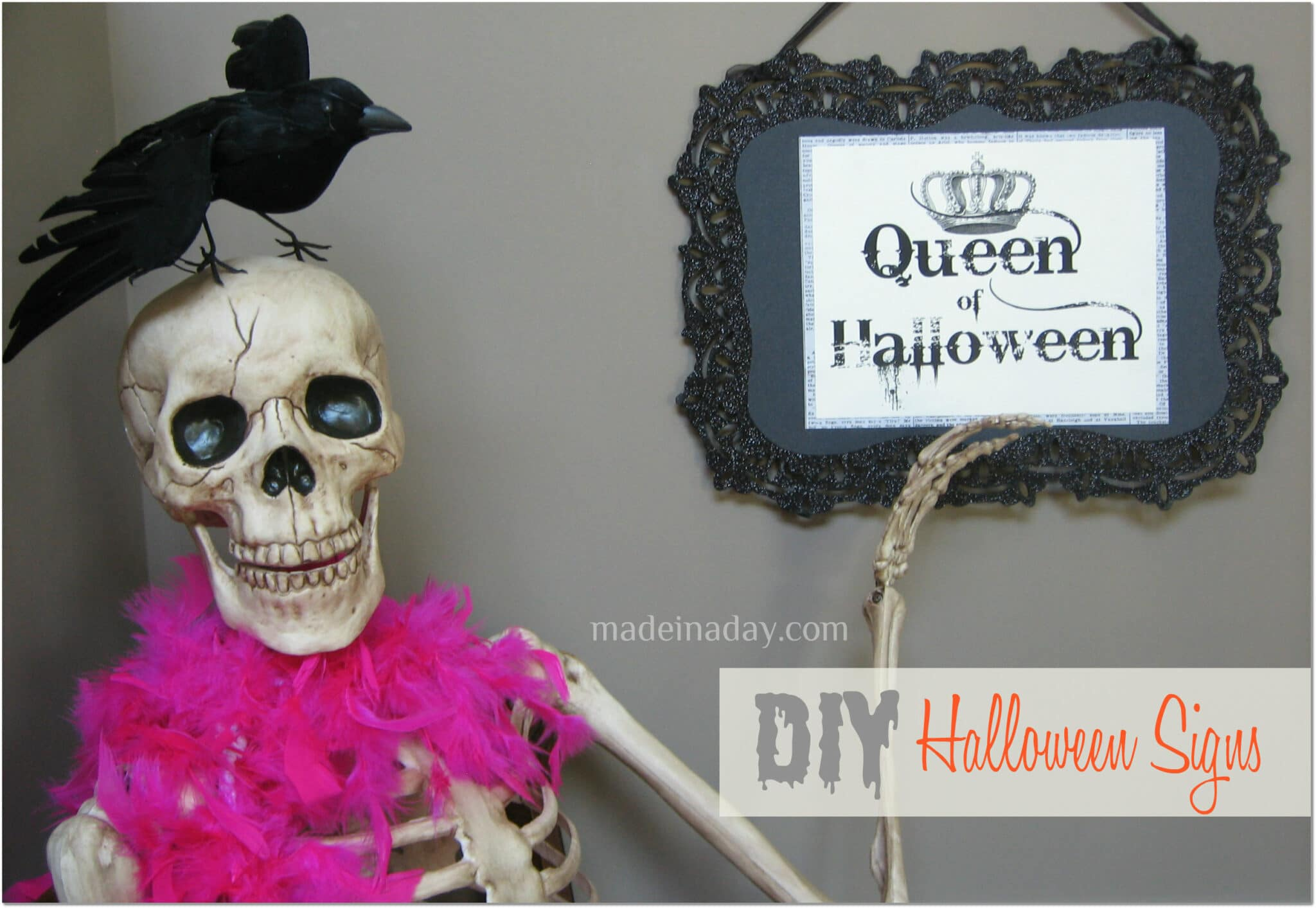 Queen of Halloween signs