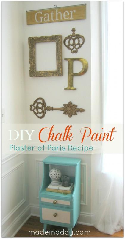 chalk paint plaster of Paris