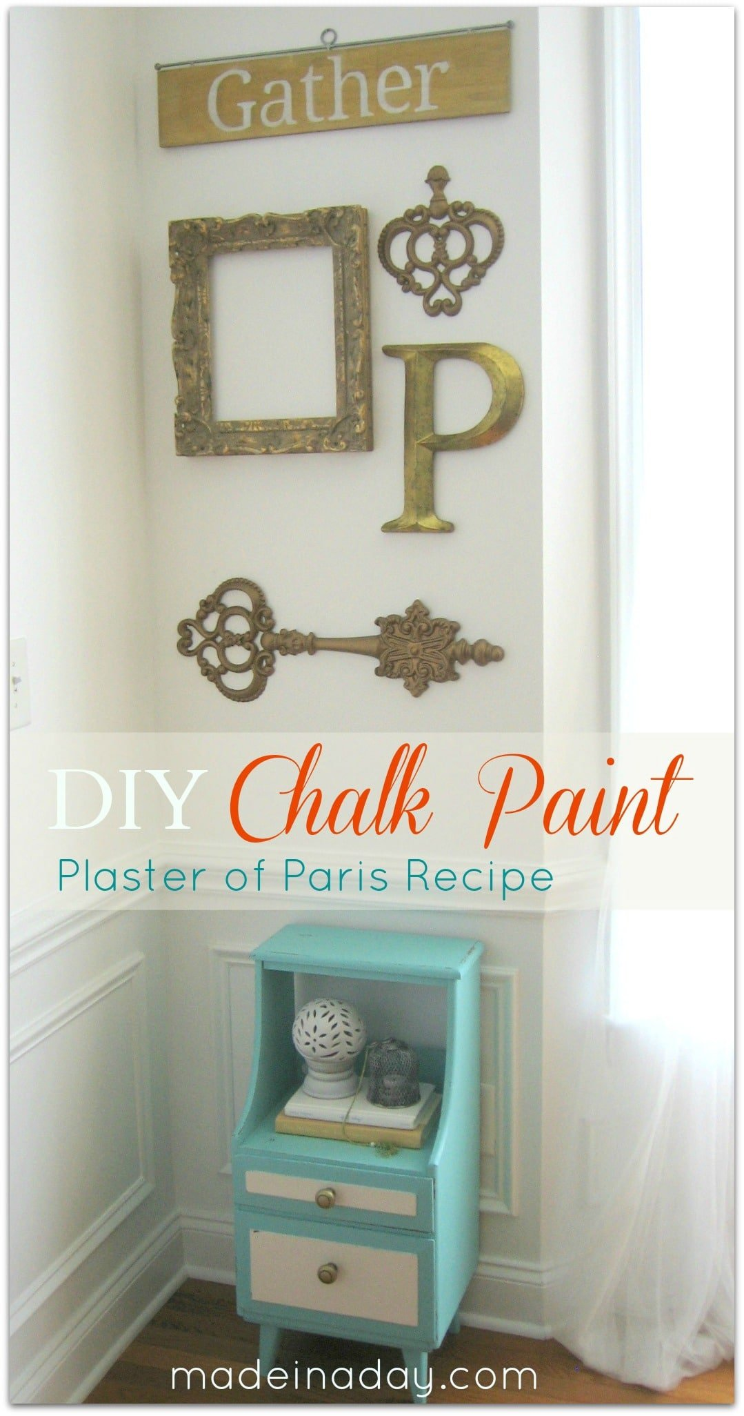 chalk paint Plaster of Paris recipe