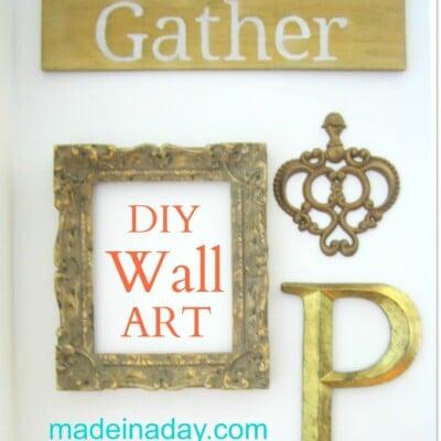 DIY Gather Sign Wall Art