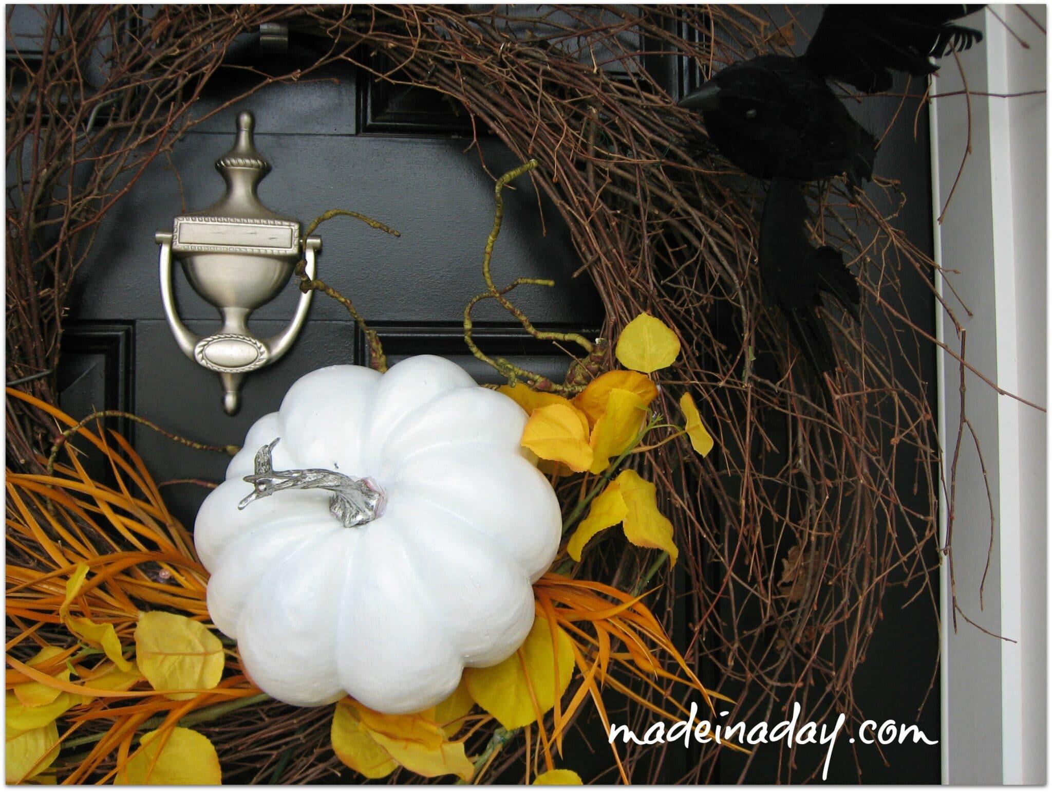 Halloween Wispy Wreath Crows madeinaday.com